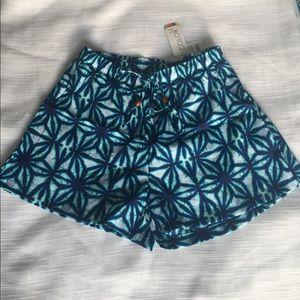 All For Color Pants - NWT Batik print Sz small shorts