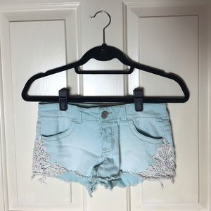 Mossimo Supply Co. Pants - Mossimo Mint Shorts with lace on sides