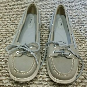 Sperry Top Sider boat shoes gray sz 9 NWOB