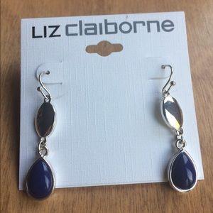 Liz Claiborne Jewelry - Liz Claiborne Navy Blue and Silver Earrings