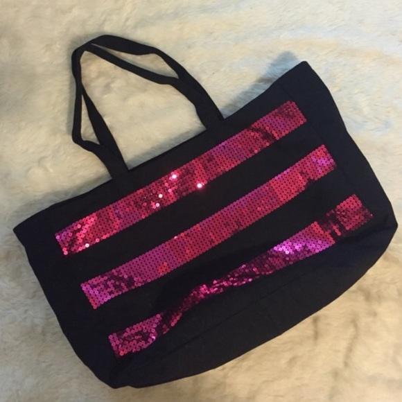 s secret s secret pink and black tote