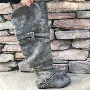 Urban Outfitters Shoes - Grey Knee High Boots