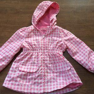 Kids Headquarters Other - Pink Gingham print windbreaker jacket size 24M