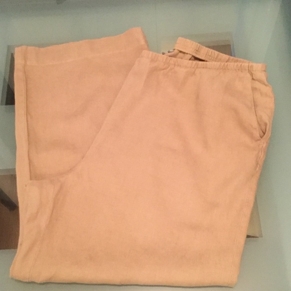 7622d9022a15a J jill Pants - J Jill Love Linen Full Leg Pants 2X