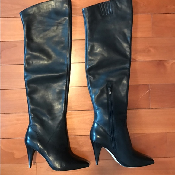 25 aldo shoes the knee thigh high boots black