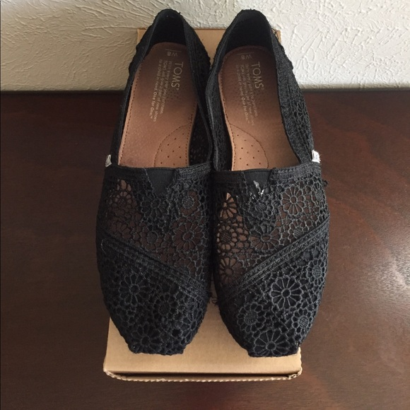 Toms 🖤toms Black Crochet 8 Fits 8 5 From Krista⚡️ S