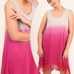 tla2 Other - OMBRÉ COVER UP OR DRESS WITH FRINGE