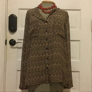 Silence and noise size M brown and black blouse