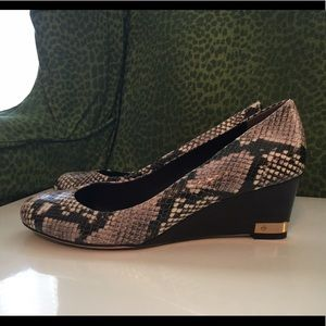 Tory Burch Shoes - Tory Burch Snakeskin Wedges