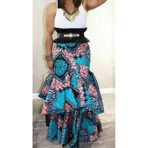 17b02651c12 Why Dress Skirts - Ankara Style African Print Layered Skirt
