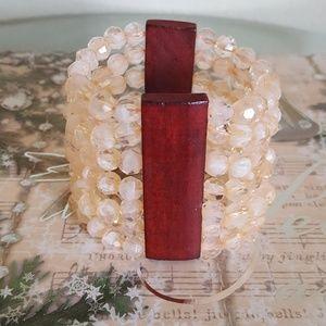Accessories - Beaded Wood Bracelet