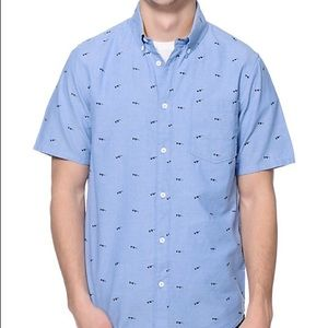 Altamont Other - Altamont Susspeck Blue Print Button Up Shirt