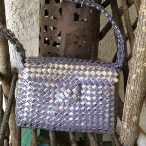 Vintage 90's statement woven wrapper purse