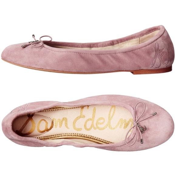 3ed978b42148f6 Sam Elderman Felicia Pink Suede Leather Flats. M 591e397ea88e7dea73008477