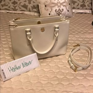 Tory Burch Mini Double Zip Robinson Tote
