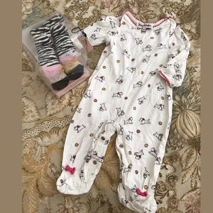 New juicy couture baby girls socks one piece 0-6