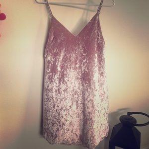 Lulu Dresses & Skirts - Lulu dress velvet pink