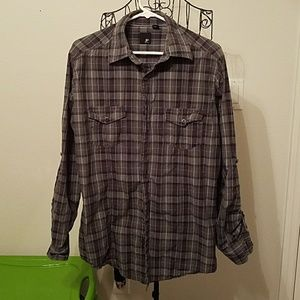 jf j.ferrar Other - Men's Plaid Long Sleeve