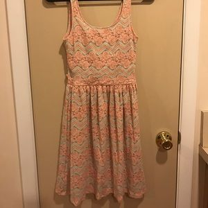 Blue and Pink Lace Sundress