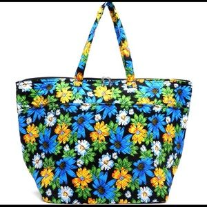 Handbags - Blue Floral Weekender/Overnight Bag - XL