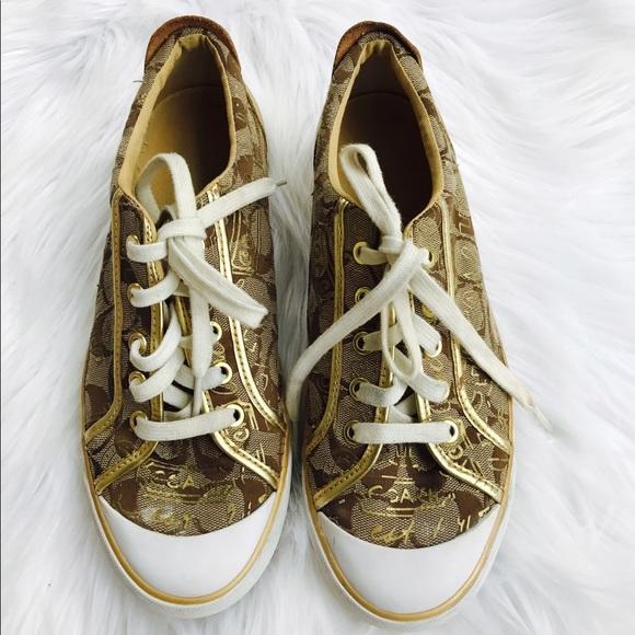 Coach Barrett Metallic Gold Sneaker