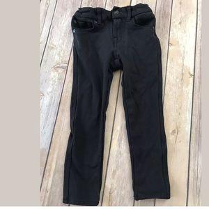 Girls black 7 for all mankind jeggings leggings 4