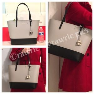 SALE New Kate Spade Colorblock leather zip tote