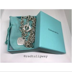 🌹SOLD🌹Auth. Tiffany & Co. Heart Toggle Choker