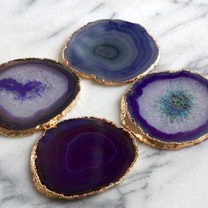 Accessories - Custom amethyst agate coasters!