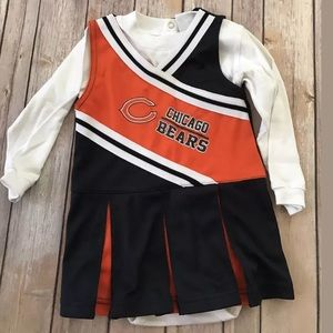 New Girls Chicago bears NFL CHEER uniform 18 mths