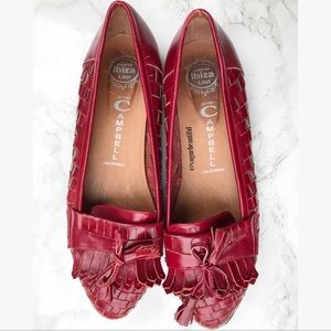 Jeffrey Campbell Shoes - Jeffrey Campbell Red Woven Loafers
