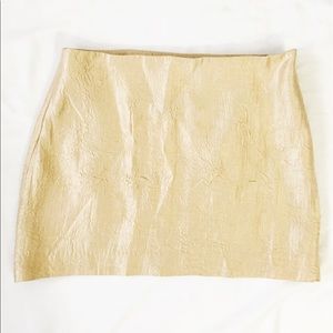 BB Dakota Dresses & Skirts - New BB Dakota champagne mini skirt