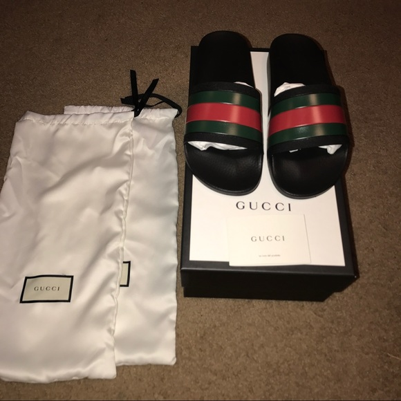 a04a33f804883 Gucci slides new with box