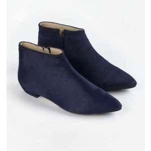 {Boden} Joni Pointy Navy Pony Hair Ankle Booties