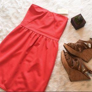 Everly Dresses & Skirts - Everly Orange Mini Strapless Dress