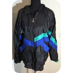 Le Coq Sportif Other - Vintage 80's Le Coq Sportif hooded wind breaker