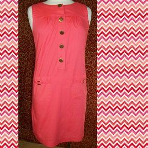 Dresses & Skirts - RICHARD MALCOLM  coral sleeveless shirt dress 8P