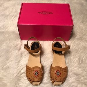 Swedish Hasbeens Shoes - Swedish Hasbeens Huaraches Clogs Sandals