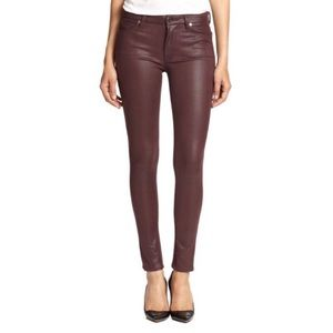 7 For All Mankind Pants - 7 for all mankind purple faux leather skinny sz 24