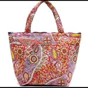 Handbags - Red Paisley Tote - Lunch Bag