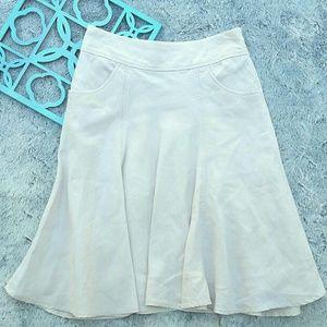 J. Jill Dresses & Skirts - {J.Jill Khaki Linen Summer Skirt}