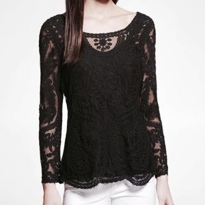 Express lace crochet top