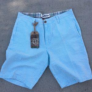 Tailor Vintage Other - Tailor Vintage Men's Blue / White Gingham Shorts