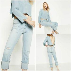 Zara Jeans Straight Cropped sz 8