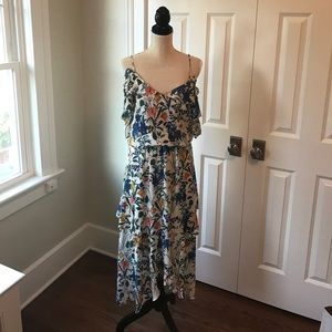 Parker Dresses & Skirts - Parker Kam Cold Shoulder Silk Dress