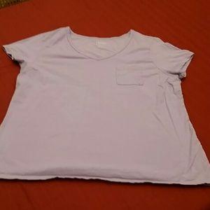 Hanes Tops - XL Ladies Lilac Pocket Tee
