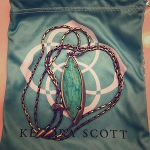 Kendra scott milla long necklace in turquoise.