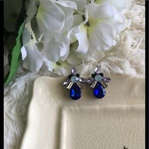 "B&B Jewelry - ""Cynthia"" Blue Statement Earrings"