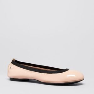 Delman Shoes - Delman Patent Leather Flats Light Pink