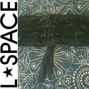 l*space Other - L*Space Frilly Lace Bandeau Bikini Top